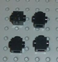 LEGO - BRICK MODIFIED 1 x 1 with Stud on 2 Side, BLACK x 4 (47905) BM47