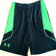 Under Armour boys shorts size Youth L black and green pull on sports Summer