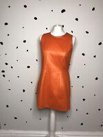 Orange Faux Leather Mini Dress Vintage Unusual Piece Japan Retro 12 Unusual 60s