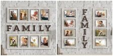 Big Picture Frame Collage Family My Set Photo Wall Mount Large Window Pane Pic