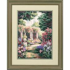 Dimensiones-Oro contado Cross Stitch Kit-Floral retiro-D35079