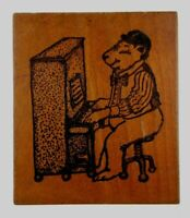 Playing in Shipping Box G28801 Wood Mounted Cat Rubber Stamp