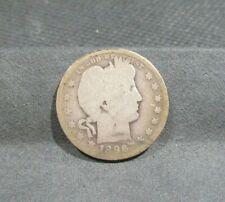 1896-O BARBER QUARTER - GOOD CONDITION - #1 KEY COIN - 90% SILVER