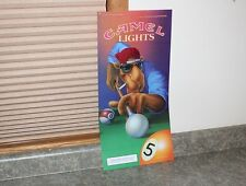 """Joe Camel Playing Pool Lighted Sign Plastic Insert - Size21"""" x 10-1/4"""""""