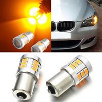 2pcs Amber Yellow BAU15S 7507 12V LED Bulbs lamp For Auto Car Turn Signal Lights