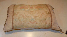 Beige Tapestry Bolster Pillow / Lumbar Pillows  24  x 13