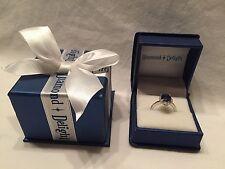 Diamond Delight 4.5 ctw Genuine Diamond Blue Sapphire Ring 14 Kt White Gold Sz 9