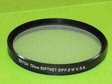 72mm Tiffen Softnet Diffuser  White 2 Filter Excellent +++          #72m8bw