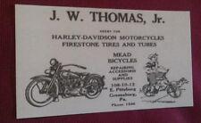 1927 Greensburg PA. Harley Davidson Co. Motorcycle Sales ++ Business Card Repo
