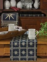 "Colonial Williamsburg Virginia Windsor Star Indigo Table Runner 13""x54"""