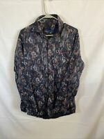 Fred Perry Mens Long Sleeve Button Front Shirt XL Camo Plaid Logo