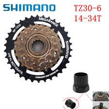Shimano Tourney MF-TZ30 14-34T MTB Road Bike 6 Speed Freewheel ScrewOn cassette