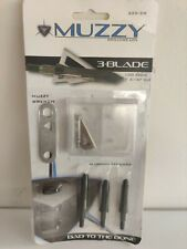 """New listing Muzzy 3-Blade Broadheads 100gr 1-3/16"""" 3-pack New 225-3W Replaceable Trocar Tip"""