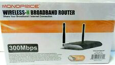 MONOPRICE WIRELESS-N BROADBAND ROUTER - 300 Mbps - # MS-WN513N2 Sealed