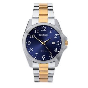 Sekonda Classic Quartz White Dial Two-Tone Bracelet Men Watch 1638 RRP £44.99
