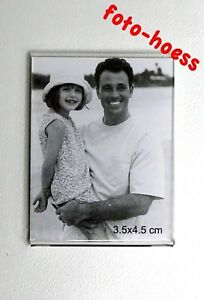 Magnetrahmen transparent Kunststoff 3,5 x4,5 cm für Passbilder Neu & OVP