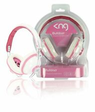KNG Headphones On-Ear 3.5 mm Wired DJ for iPod iPhone MP3 DVD TV Pink
