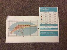 mini Hang glider pattern cross stitch chart only m 9