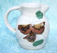 Studio Art Slipware Pottery Milk Jug stamped R for Leslie Rucinski Coventry