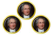 Johann Wolfgang Von Goethe Marqueurs de Balles de Golf