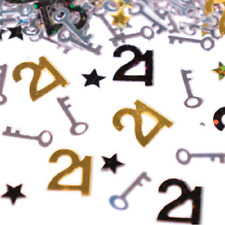 21st Birthday Gold & Black Confetti Scatters Table Decoration 14 g FAST DELIVERY