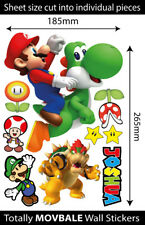 Super Mario Brothers Personalised Reusable Wall Stickers Kids Bedroom Decals