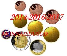 Série 1 Cent à 2 Euro Andorre 2014/2016/2017 - Série UNC Mixte