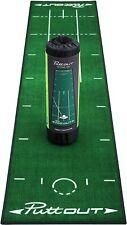 PuttOut Pro Golf Putting Mat GREEN Perfect Your Putting (7.87-feet x 1.64-feet)