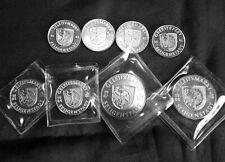 Medaille Münze Geleitsmarkt Seligenstadt Set von 1981 bis 1988
