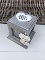 Shabby Chic Rustic Wood Style Personalised Auntie Aunty Aunt Gift Photo Cube Box
