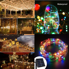 5/10/20M LED String Fairy Lights Solar Power Copper Wire Lamp Garden Party Decor