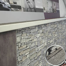 Tapete Rasch 859102 SURFACE STONE grau Vliestapete Steinmauer in 3D Optik