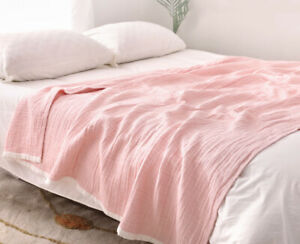 six layers gauze blanket traditional craft breathable pure cotton thin blankets