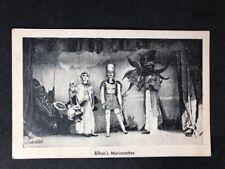 "Vintage Real Photo Postcard: Actor Theatre #B026: ""Biltons Marionettes"" 1959"