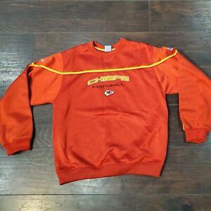 Reebok NFL Team Apparel Kansas City Chiefs Shiny Sweatshirt Crewneck No Size tag