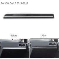Für VW Golf 7 2014-2019 Kohlefaser Co-Pilot Dekoration Saufkleber Trim Abdecken