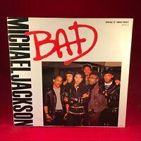 "MICHAEL JACKSON Bad 1987 UK 3-track 12"" Vinyl Single EXCELLENT CONDITION #"