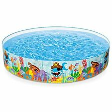 """Intex Ocean Reef Snapset Inflatable Pool 8' X 18"""" for Ages 3+ Kids Toy Game"""
