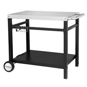 Royal Gourmet Movable Dining Cart Work Prep Table for Kitchen Restaurant PC3401S