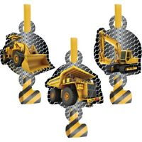 Construction Zone Blowouts 8 Pack Boy Truck Party Favor Gifts Decoration
