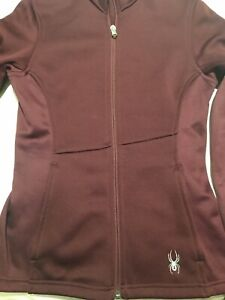 Spyder Ski Jacket Womens Burgundy UK 8 / XS
