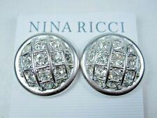 Earrings with Swarovski Crystals 1518 Nina Ricci Rhodium Plated Clip