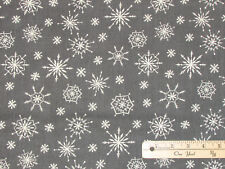 Plaid for the Holidays Gray Snowflake Christmas Fabric by the 1/2 Yard  #82518
