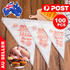 100PCS Plastic Disposable Piping Bags For Cake Decorating Icing Frosting S/M/L