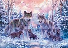 NEW! Ravensburger Arctic Wolves 1000 piece wolf fantasy jigsaw puzzle 19146