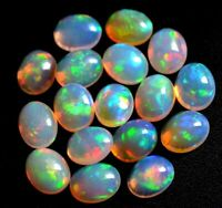 7x5 MM 1 PIECE NATURAL ETHIOPIAN WELO FIRE OPAL CABOCHON'S CALIBRATED DDL58