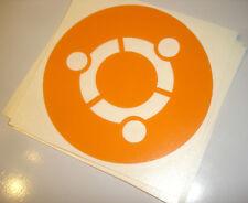 Ubuntu Linux Vinyl Laptop Sticker - Open source, Linux, Tux - (Orange) 100x100mm