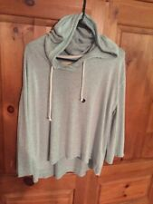 HOLLISTER Ladies Hoodie Sweater Top Sz LARGE Light Green NWT $35 Retail
