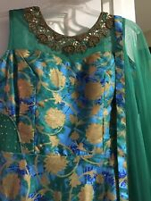 Indian gown readymadebridal wedding long gown duppata