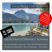 Allemagne Autriche Suisse TOIT Carte Topo 8GB micro sd Garmin Navi, PC & MAC